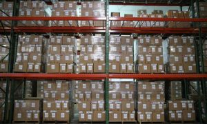 Stock of light fixtures at Future Energy Solutions in Fort Lauderdale. (PHOTO CREDIT: CHARLES TRAINOR JR.)